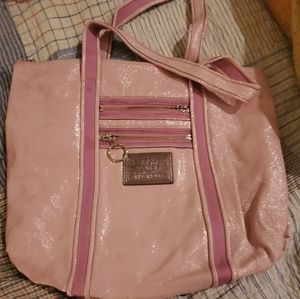 SOLD...COACH POPPY GLAM TOTE PATENT PINK